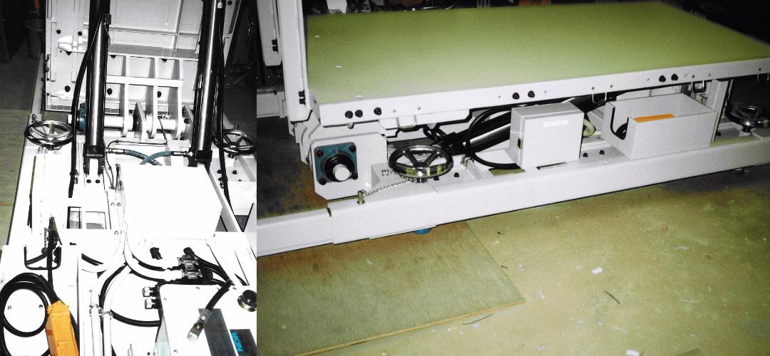油圧式制御盤起し装置